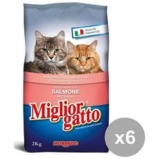 Set 6 2 Kg. secco Salmone Cibo Per Animali