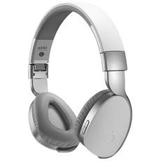DVC4007S Padiglione auricolare Stereofonico Cablato / NFC (Comunicazione in prossimità) / Bluetooth Argento auricolare per telefono cellulare