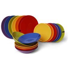 Servizio 18 Piatti Trendy Colors - Assortiti
