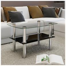 Tavolino Da Caffè Vetro 2 Livelli