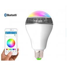 Lampada A Led Rgb 6w Con Controllo Cromatico E Altoparlante A Controllo Bluetooth