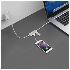 C31HUB3PD, USB 3.0 (3.1 Gen 1) Type-A, USB 3.1 (3.1 Gen 2) Type-C, USB, Bianco