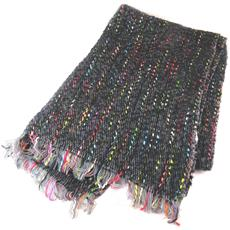 sciarpa designer '' multicolore nero - 184x64 cm - [ n9431]