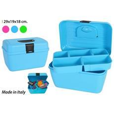 Scatola Box 29x19x18h Cm Toelettatura Forbicine Porta Accessori Giochi Medicine Lima Cane Gatto Animali Domestici Colore Casuale
