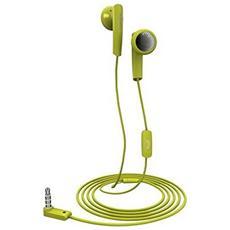 """2357876, Stereofonico, Verde, Interno orecchio, Cablato, 3.5 mm (1/8"""") , Intraurale"""