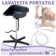 Lavatesta portatile parrucchiere completo di tubo di scarico altezza regolabile