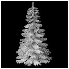 Albero Di Natale 210cm Verde Ecologico Innevato 1189 Rametti Folto
