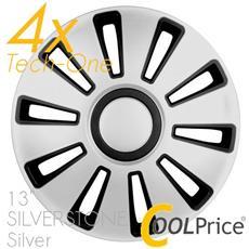 Copricerchi Auto Universali 13 Pollici Tech-one Silverstone Silver 31505