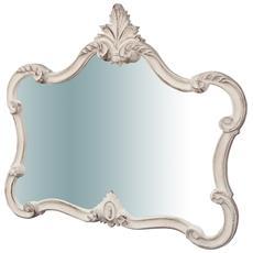 Specchiera Da Parete In Legno Finitura Bianco Anticato Made In Italy L71xpr5xh82 Cm