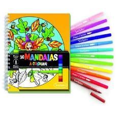 Carnet de Coloriage Mandalas + Feutres Libro / album da colorare