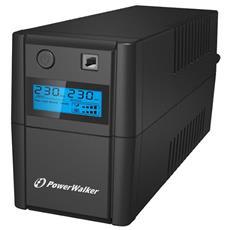 BlueWalker VI 850SE LCD A linea interattiva 850VA 2AC outlet (s) Torre Nero gruppo di continuità (UPS) RICONDIZIONATO