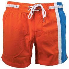 Boxer Mare Uomo Con Banda Laterale Arancio Blu M