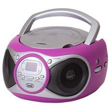 Stereo Portatile Cd Boombox Cd 512 Fucsia