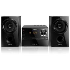 Sistema Micro Hi-Fi BTM1360 Lettore CD Supporto MP3 Potenza Totale 30Watt Bluetooth colore Nero