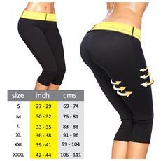 Pantaloncino hot shapers pantaloni sauna dimagrante fitness misura M
