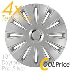 Copricerchi Auto Universali 13 Pollici Tech-one Daytona Pro Silver 31630