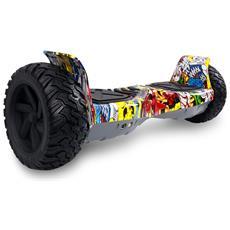Hoverboard Suv Off Road Ruote 8.5'' Hiphop Con Bluetooth&app