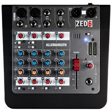 Mixer Analogico Compatto ZED-6 con 4 Canali