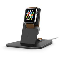 12-1504 Hirise Stand metallico Ricarica Wireless per Apple Watch - Nero