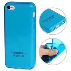 Custodia Tpu Per Iphone 5c Blu Trasparente