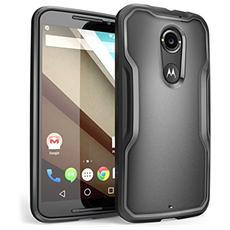 Moto X Case, Supcase [ serie Unicorn Beetle] Per Nuovo Motorola Moto X (2nd Gen.) Phone 2014, Custodia Bumper Premium (trasparente / nero) - Non Per Moto X Phone (1st Gen.) Edizione 2013