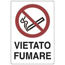Cartello In Plastica Bianca Vietato Fumare 30x20 Cm