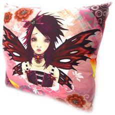 cuscino decorativo 'fairy dreams' bordeaux rosa - [ k5378]