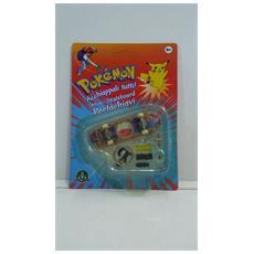 Pokemon Mini-skateboard Portachiavi Con Ruote E Accessori - Electrode - 8000144512157