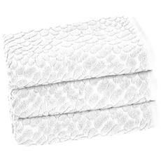 Lot De 3 serviettes Talia – 50 x 90 cm – neige