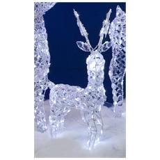 Renna a 100 Luci LED da Esterno 70 cm Bianco Freddo