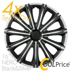 Copricerchi Auto Universali 16 Pollici Nero Tech-one Black Silver 31628
