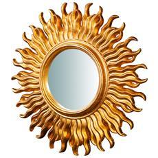 Specchiera Da Parete In Legno Finitura Foglia Oro Anticato Made In Italy L46xpr4,5xh46 Cm