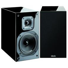 DIVA 252 Coppia diffusori acustici a 2 vie Potenza 100 Watt Colore Laccato Nero