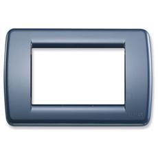 Placca Rondò 3 Moduli Blu Zaffiro