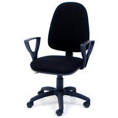 Poltrona operativa nera da ufficio per studio da cameretta