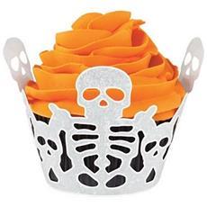 18 Avvolgi Muffin Scheletro Halloween