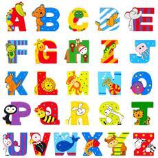 Lettera Q Animali Ape Regina In Legno Cm 8x7x1 Per Cameretta Bambini