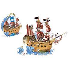 J02819 La Nave dei Pirati - Puzzle da Pavimento 39 Pezzi