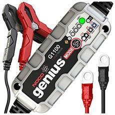G1100eu Genius Caricabatteria Smart 6 V / 12 V 1.1 A Ottimizzato per Batterie Start-Stop con Tecnologia Agm Ed Efb