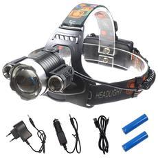 Torcia A Fascia Testa Glare Headlight W601 Luce 3 Led 180 Gradi Superbright Bianco Sport Hobby