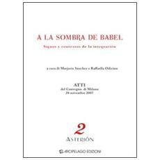 A la sombra de Babel. Dignos y contextos de la integración. Atti del Convegno (Milano, 28 novembre 2007) . Ediz. multilingue