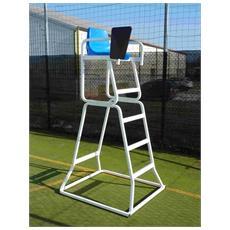 Postazione palchetto seggiolone con schienale per arbitro tennis regolabile