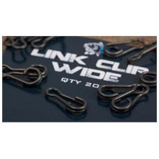 Link Clips Wide Unica Nero