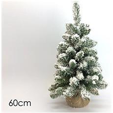 Albero Di Natale Artificiale Innevato 60cm Super Folto Art. 422098