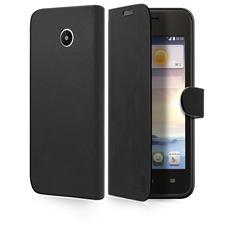 TEBOOKHUY330K SMARTPHONE Custodia BOOK con supporto rigido, linguetta magnetica, finitura pelle, colore Nero per Huawei Y330