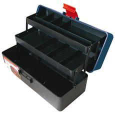 Cassetta da pesca in plastica 2 ripiani 9 scomparti cm 33,5x15xH 14,5