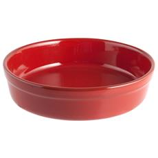 Pirofila Tonda Diametro 25 cm Rosso