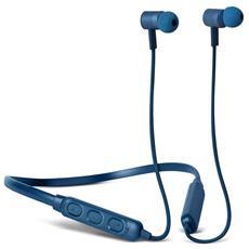 Band-it Cuffie Auricolari Sport Bluetooth con Neckband e Microfono e  Telecomando Integrati Colore Blu 3a2df7a46d95