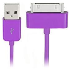 3ft. USB 2.0 - 30pin m / m, USB A, Apple 30-p, Maschio / maschio, Porpora, Apple iPhone, iPad Mini, iTouch, iPad
