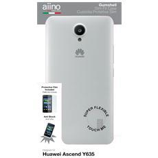 Custodia Gumshell per Huawei Ascend Y635 - Clear